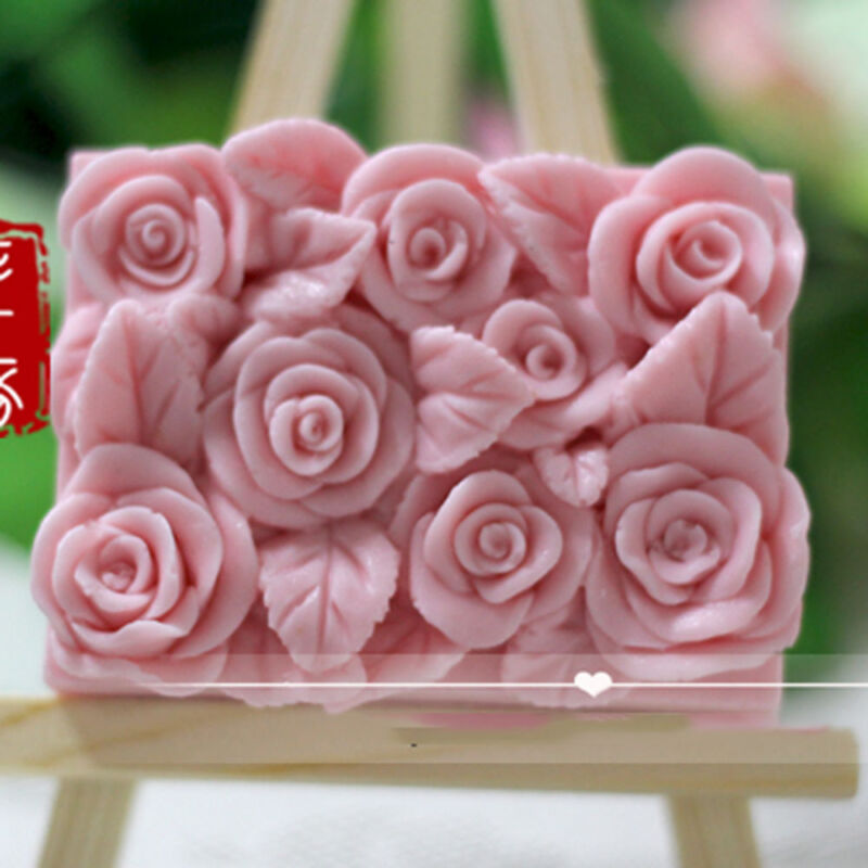 Rose Flower Silicone Soap Candle Mold Soap Making Mould DIY Handmade Molds