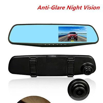 Car 120° Dashboard Video Camera 4.3'' 1080P HD DVR Cam Anti/Glare Night Vision