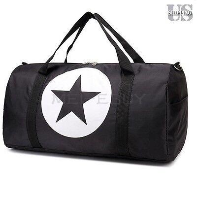"18"" Black Nylon Foldable Tote Travel Bag Duffle Carry-On Gym Luggage Overnight"
