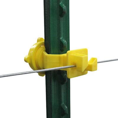 Patriot - T-post Screw On Insulator - Yellow
