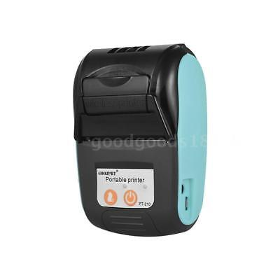 Goojprt Mini 58mm Direct Thermal Receipt Pos Printer Bt 4.0 For Ios Wins W3f4