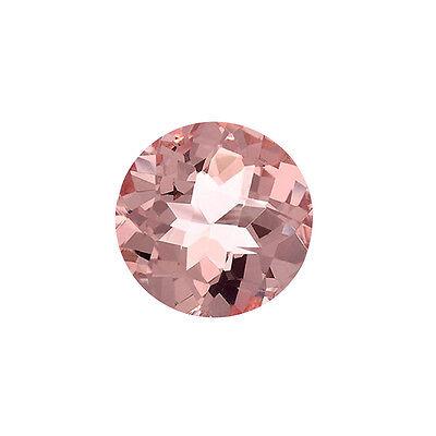 1.17ct 7mm Natural Round Brilliant Cut Morganite Loose Gemstones