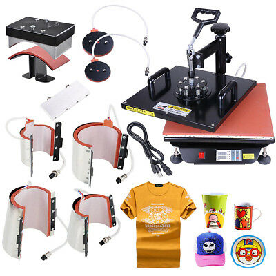 15x15 8in1 Heat Press Machine Digital Transfer Sublimation T-Shirt Mug Cap Print