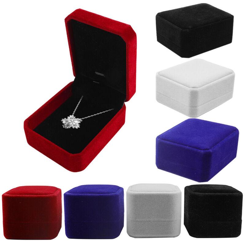 1/5/10 Pack Velvet Earring Ring Necklace Pendant Jewelry Gift Boxes Case Wedding