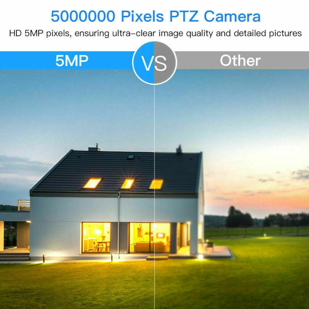 2.5 4X Zoom POE PTZ IP Camera 5MP Outdoor Security Network P2P IR Night Vision - $88.99