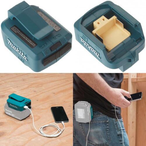 Makita DEBADPP05 14.4-18 V Li-Ion USB Adapter Blue