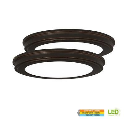 LED Flush Mount Ceiling Light Fixture Electric 24W Oil Rubbed Bronze Lamp(2pack)