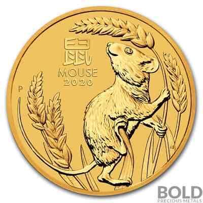 Best  2020 GOLD 1/4 OZ AUSTRALIA PERTH LUNAR MOUSE