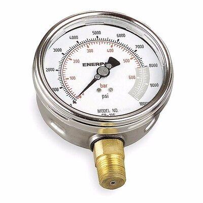 Enerpac G4088l Gauge Liquid 4 10000 Psi Range 14 Npt 6a1-0113kd59