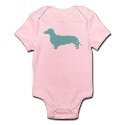 CafePress Dachshund Silhouette Cute Infant Bodysuit Baby Romper (199820135) Silhouette Infant Bodysuit