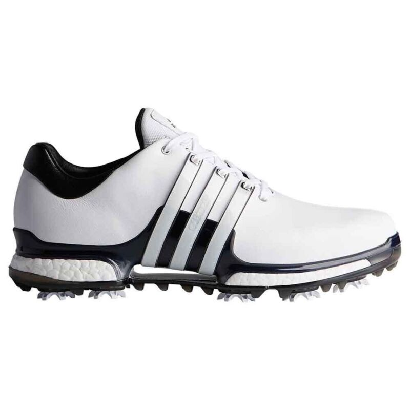 NEW MEN'S ADIDAS TOUR 360 BOOST 2.0 GOLF SHOES WHITE Q449