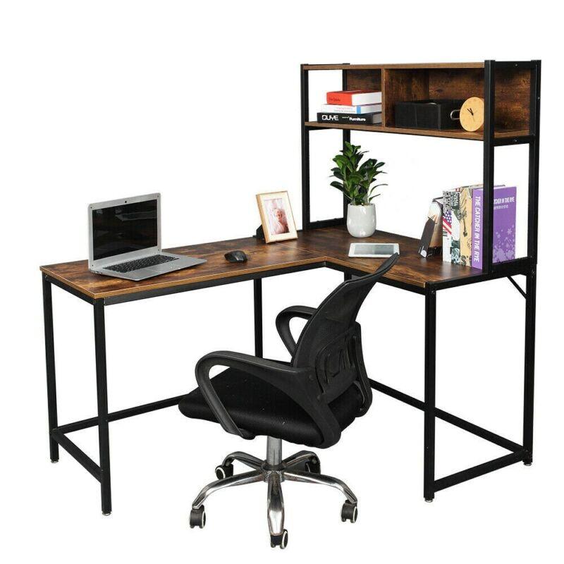 l shaped home office desk wooden corner