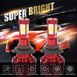 Cree LED Headlight Kit 9006 HB4 9012 6000K 1500W 225000LM Fog Bulbs Pair HID