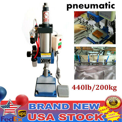 200kg Pneumatic Punch Press Machine 440lbs Desktop Punching Adjust Machine 110v
