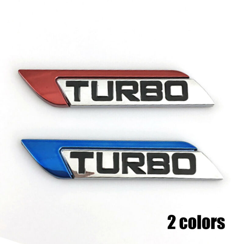 3D Metal Turbo Logo Car Body Fender Emblem Badge Decal Sticker Body Decor Random