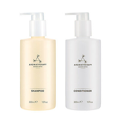 1 SET 2 PCS Aromatherapy Associates Haircare Balancing Shampoo+Conditioner 300ml
