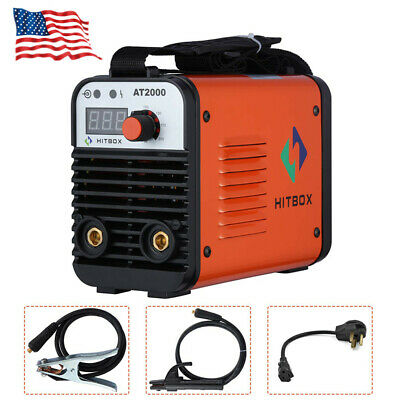Dual Volt Arc Welding Machine Rod Stick 110220v Inverter Welder At2000 Hitbox