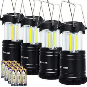 LED Camping Lantern, Cob Light Ultra Bright Collapsible Lamp Portable Set of 4