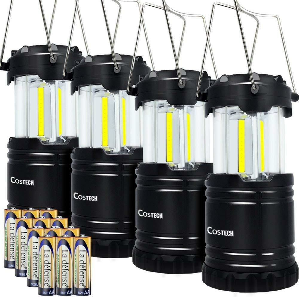 Set of 4 LED Camping Lantern, COB Ultra Bright Collapsible Portable Camping Lamp