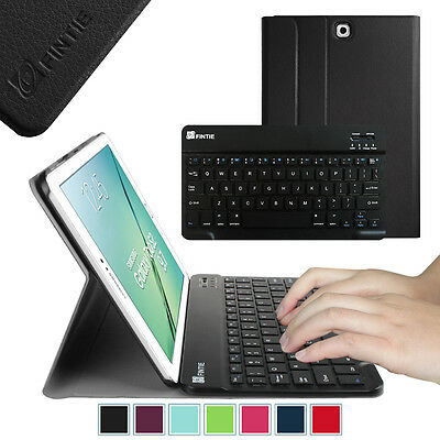 Wireless Bluetooth Keyboard Slim Shell Cover Case For Sam...