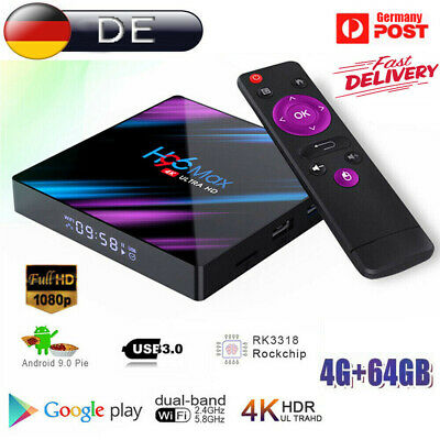 H96 Max TV Box 4GB/64GB Android 9.0 Smart Tv Box RK3318 5G Wifi Mediaplayer FU online kaufen