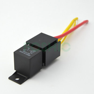 Automotive Car Relay Socket Harness 12v 80a Amp 4pin Dc Spst Normal Open Relay