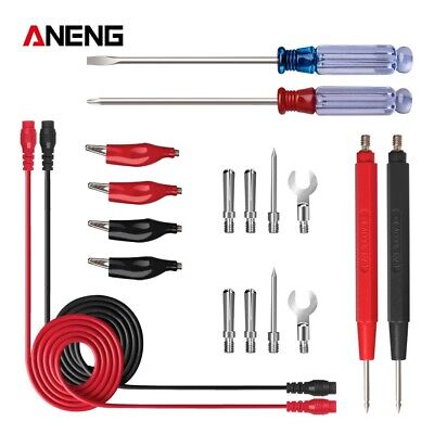 Digital Multimeter Probes Kit Thin Tip Needle Cable Line Electronic Test Leads