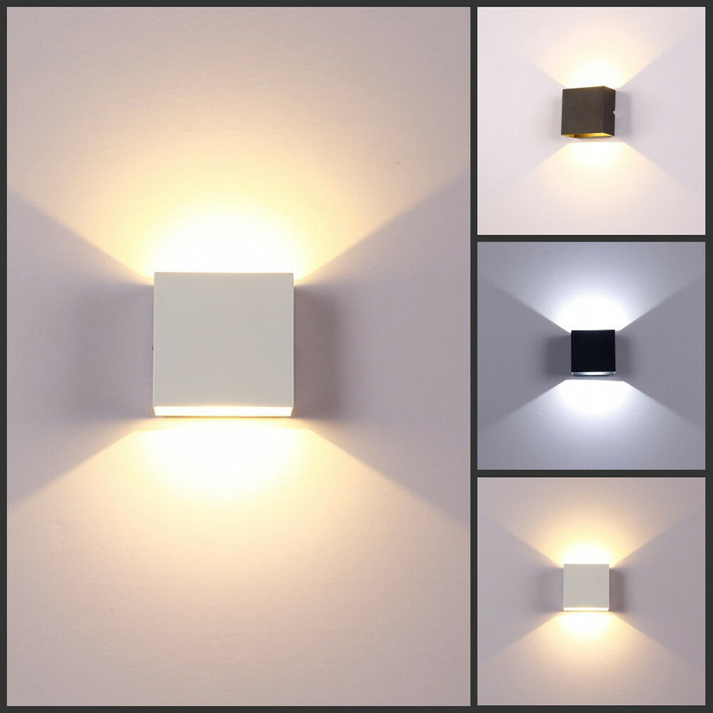 Details About 3 6w Modern Led Wall Light Up Down Sconce Lighting Lamp Fixture Mount Room Decor