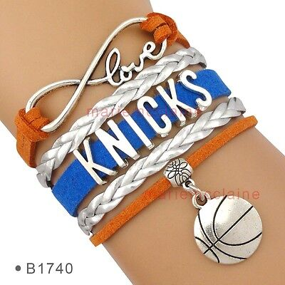 - New York Knicks Bracelet NBA Basketball Infinity Charm QUALITY FAST SHIP USA