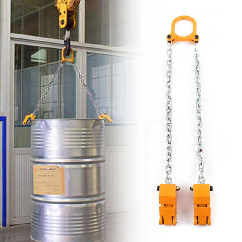 2,000 Lbs Ton Drum/barrel Lifting Barrel Lifter Chain Assembly Drum Best Sale!!