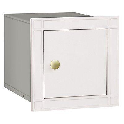 Mailbox Green Eagle Door - Salsbury Cast Aluminum Column Mailbox - Non-Locking - Eagle Door - White-MAILBOX