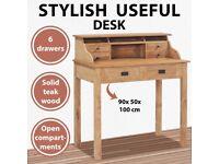 Desk 90x50x100 cm Solid Teak Wood-282851