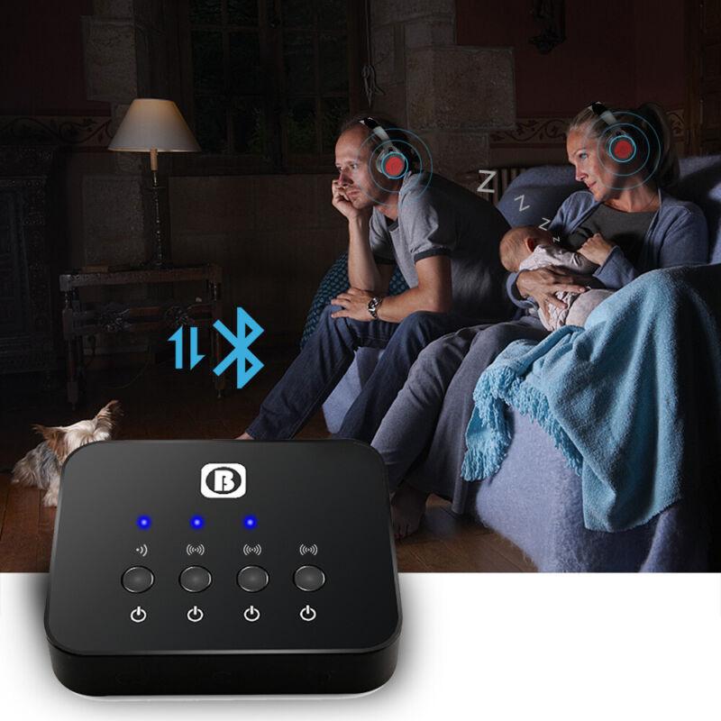 3 in 1 Bluetooth Splitter Audio Sharing Fast Transmitter Multi-point Adapter