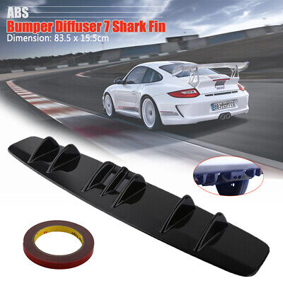 """New 33"""" x 5"""" Lower Rear Body Bumper Diffuser Shark 7 Fin ABS Spoiler Universal for sale  Shipping to United Kingdom"""
