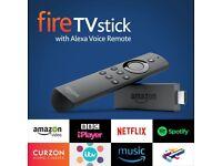 * BRAND NEW * AMAZON ALEXA VOICE REMOTE FIRE STICK * LATEST 2017 FIRESTICK * FIRE TV STICK *