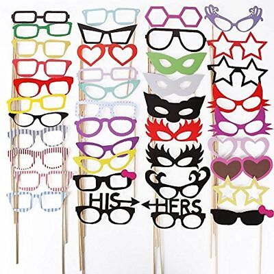 Photo Booth Props, MoYag 76 Pcs DIY Kit Dress Up For Wedding/Birthday/Hen Party - Photo Booth For Parties Diy