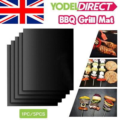 Reusable BBQ Grill Mat Teflon Resistant Non-Stick Bake Sheet Oven Liners UK
