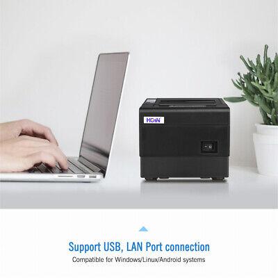 Hoin 80mm Thermal Receipt Printer Usblan Interface Escpos Auto Cutter I4i2