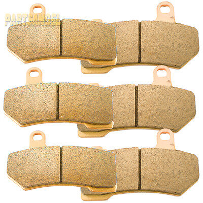 3 SETS Front Rear Brake Pads For Harley Touring 2008 - 2018 REP OEM # 41854-08