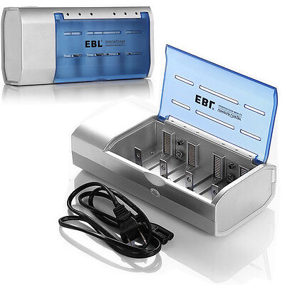 Universal Battery Charger Fr AA/AAA C D Size 9V Ni-MH Ni-CD Rechargeable Battery on Rummage