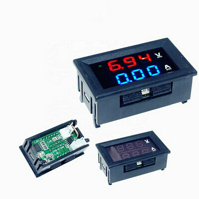 Dc 100v 50a Bluered Led Voltmeter Ammeter Amp Dual Digital Volt Amp Meter Guage