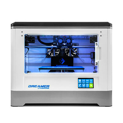3D Printer Flashforge Dreamer 3D Printing Dual Extruder W  Clear Door Rear Fans