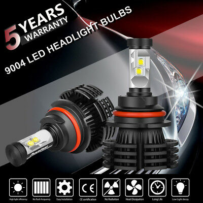 2X 9004 Hb1 Cree 1300W 195000Lm Led Headlight Hi Lo Beam Bulbs Replace Xenon Hid