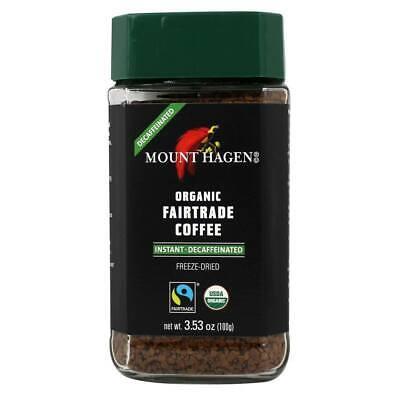 Mount Hagen - Organic Fairtrade Instant Coffee Freeze Dried Decaffeinated - 3.53 Dry Organic Coffee
