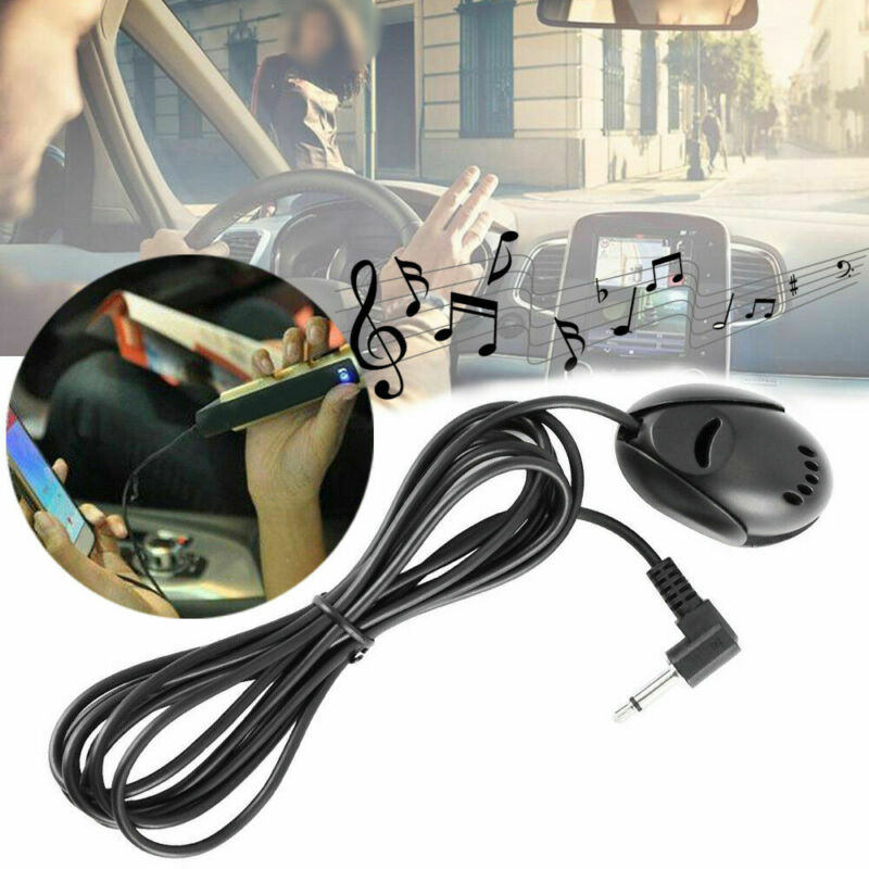 3.5mm Microphone For Car Stereo Radio GPS DVD Bluetooth Enabled External Mic Hot