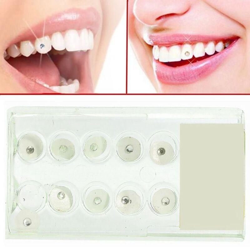 10 teile / satz 2mm Oral Kristall Zahn Ornamente Zahn Zähne Schmuck Edelsteine