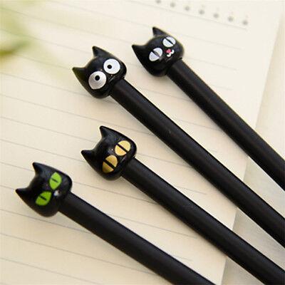 4pcs Black Cat Gel Pen Kawaii Stationery Creative Gift School Supplies 0.5mm