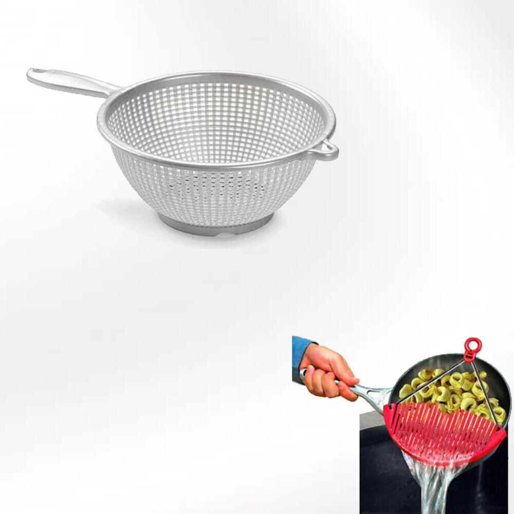 Confezione Scolapasta Colino In Alluminio Con Manico Per Aiuto Cucina Di Casa