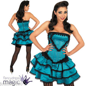 Ladies-Sexy-Can-Can-Girl-Wild-West-Western-Saloon-Burlesque-Fancy-Dress-Costume