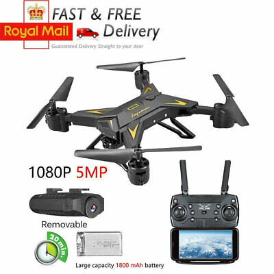 RC Drone Quadcopter Remote 5MP HD Camera WIFI 6-Axis Foldable Altitude Hold Kits